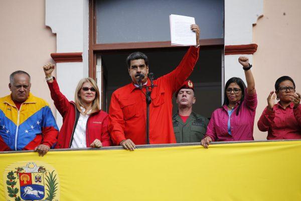 馬杜羅宣布與美國斷交(圖片來源:AP Photo/Ariana Cubillos)